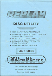 Replay Disc Utility