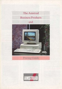 Amstrad Business Products & Pricing Guide
