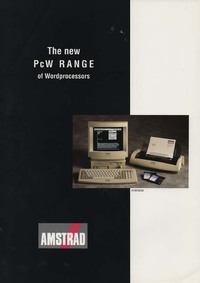 Amstrad The New PcW range of Word Processors
