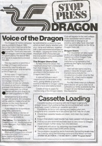Dragon Stop Press - Issue 1