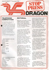 Dragon Stop Press - Issue 5 - November 1983