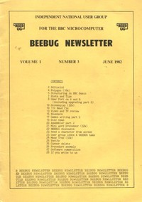 Beebug Newsletter - Volume 1, Number 3 - June 1982