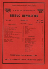 Beebug Newsletter - Volume 1, Number 8 - December 1982 /January 1983