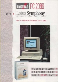 Amstrad PC 2086 with Lotus Symphony