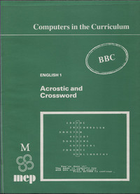 English 1 - Acrostic and Crossword