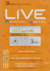 3 Month Xbox 360 Live